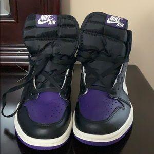 Nike Shoes - Purple and black Nike Air 1 Retros